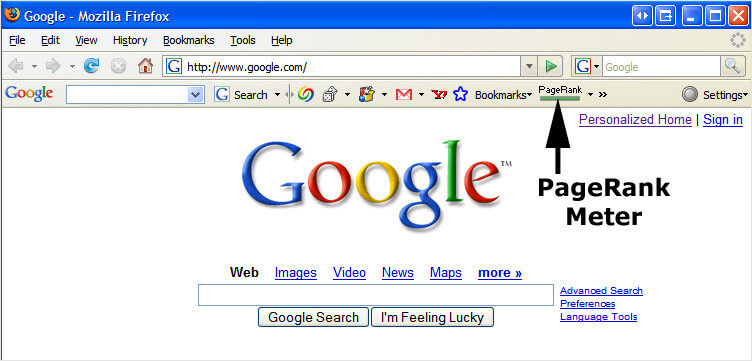 Google PageRank score