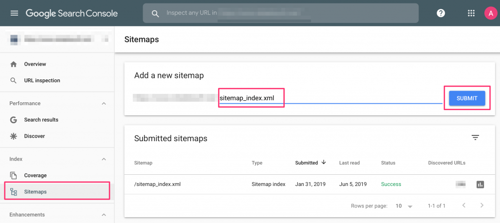 submit your website to Google using a sitemap